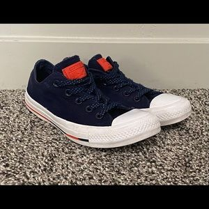 Converse All Star Blue White Shoes Women 6 Boy 4